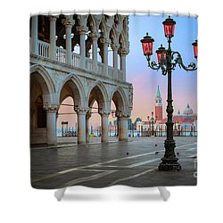 Palazzo Ducale Shower Curtain by Inge Johnsson