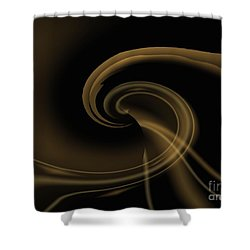 Pale Darkness - Abstract Shower Curtain