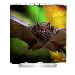 Shower Curtain featuring the photograph Pale Spear-nosed Bat In The Amazon Jungle by Al Bourassa
