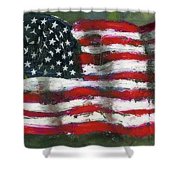 Palette Flag Shower Curtain