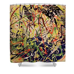 Shower Curtain featuring the painting Palette Pot #7 by Kym Nicolas