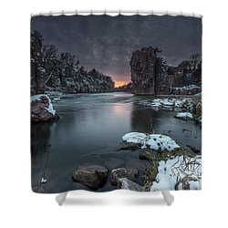 Palisades First Snow Shower Curtain