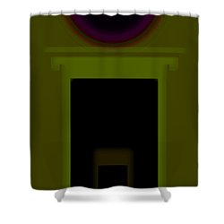 Palladian Green Shower Curtain by Charles Stuart
