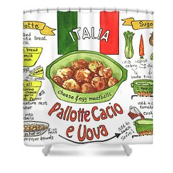 Pallotte Cacio Shower Curtain