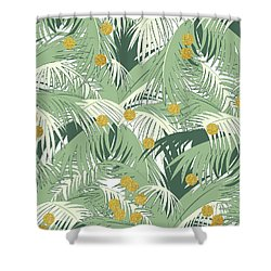 Palm And Gold Shower Curtain
