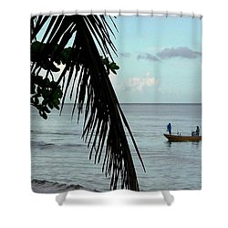 Palm And Tree Shower Curtain