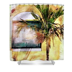 Palm And Window Shower Curtain