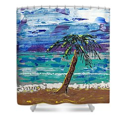 Shower Curtain featuring the painting Palm Beach by J R Seymour