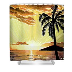 Palm Beach Sunset Shower Curtain