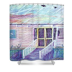 Palm Cottage Shower Curtain