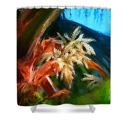 Palm Flowers Shower Curtain by Gerhardt Isringhaus
