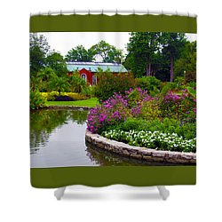 Palm House Shower Curtain by John Lautermilch