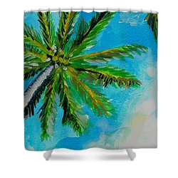 Palm In The Sky Shower Curtain