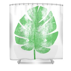 Palm Leaf- Art By Linda Woods Shower Curtain