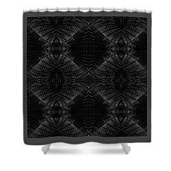 Shower Curtain featuring the digital art Palm Leaf Design by Ellen Barron O'Reilly