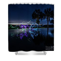 Palm Lights Shower Curtain