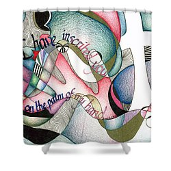 Palm Of My Hand Shower Curtain by Amanda Patrick