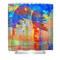 Palm Party Shower Curtain by Holly Martinson