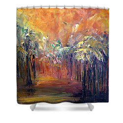 Palm Passage Shower Curtain