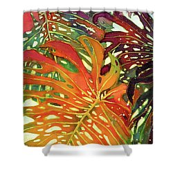 Palm Patterns 2 Shower Curtain by Deborah Younglao