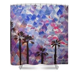 Palm Springs Sunset Shower Curtain