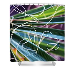 Palm Strings Shower Curtain