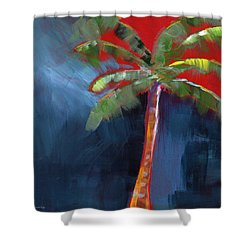Palm Tree- Art By Linda Woods Shower Curtain by Linda Woods