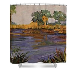 Palm Tree Hideaway  Shower Curtain