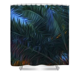 Palm Tree In The Sun Shower Curtain