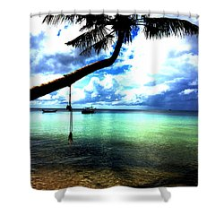 Palm Tree  Shower Curtain by Julita Pietrzyk