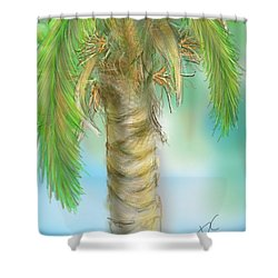 Shower Curtain featuring the digital art Palm Tree Study Two by Darren Cannell