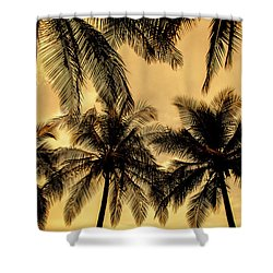 Palm Trees In Sunset Shower Curtain