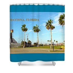 Palm Trees Of Daytona Florida Shower Curtain by Karen Francis