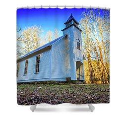 Shower Curtain featuring the photograph Palmer Chapel Methodist Church by Doug Camara