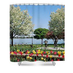 Palmer Park In Spring Shower Curtain