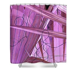 Lines, Curves And Highlights Shower Curtain