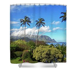 Palms At Hanalei Shower Curtain