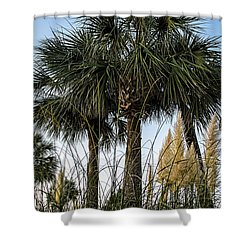 Palms At Lightkeepers Shower Curtain