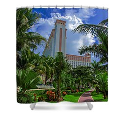 Palms At The Riu Cancun Shower Curtain