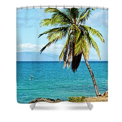 Shower Curtain featuring the photograph Palms On Hawaiian Beach 12 by Micah May