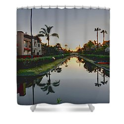 Palms Reflected Shower Curtain