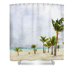 Palmtrees In Punt Cana Shower Curtain