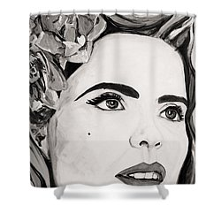 Paloma B And W Shower Curtain