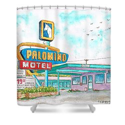 Palomino Motel In Route 66, Tucumcari, New Mexico Shower Curtain