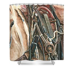 Palomino Shower Curtain by Nadi Spencer