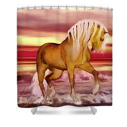 Shower Curtain featuring the painting Palomino by Valerie Anne Kelly