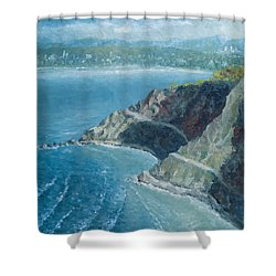 Palos Verdes Autumn Morning, No. 1 Shower Curtain by Douglas Castleman