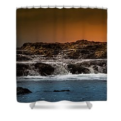 Palos Verdes Coast Shower Curtain by Ed Clark