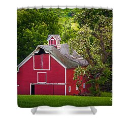 Palouse Barn Number 9 Shower Curtain by Inge Johnsson