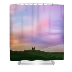 Palouse Cirrus Rainbow Shower Curtain